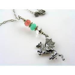 Dragon Necklace with Gemstones