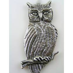 Huge Owl Brooch