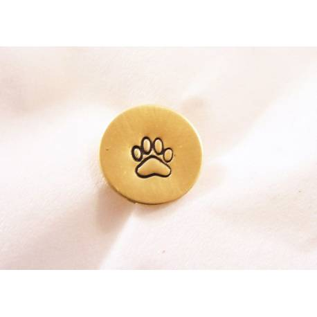 Tie Tack, Paw Print - Hand Stamped