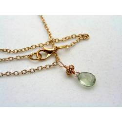 Rose Gold Necklace with Prasiolite