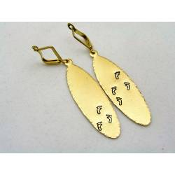Feet Print Earrings