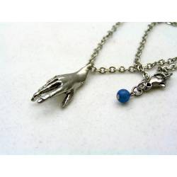 Hand Necklace with Sodalite
