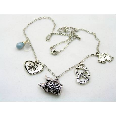 Bavaria, Munich, Germany Necklace with Charms