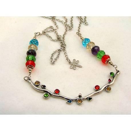 Crystal Set Branch Necklace