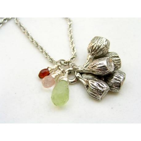 Australian Necklace with Gumnut Pendant and Australian Gemstones