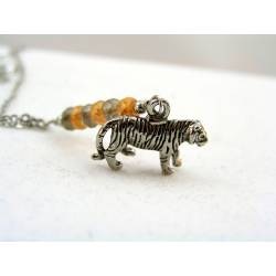 Tiger Charm Necklace