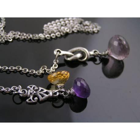 Ametrine, Amethyst and Citrine Necklace