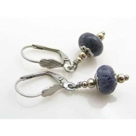 Blue Coral Earrings