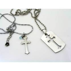 Matching Couple Necklaces, Cross