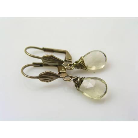 Large Citrine Earrings