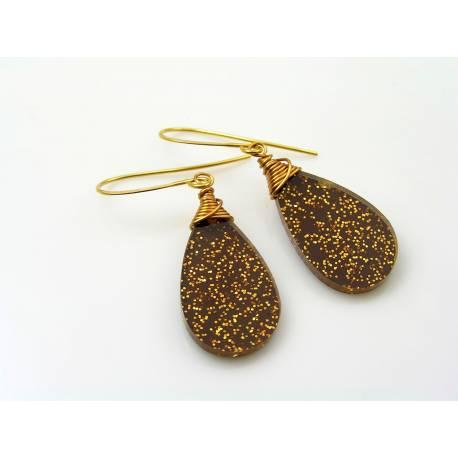 Acrylic Glitter Earrings