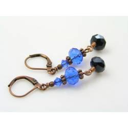 Swarovski Crystal Earrings, Blue Earrings