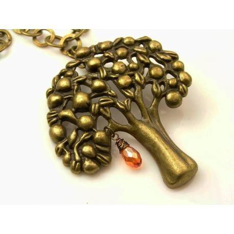 Large Bronze Tree Necklace