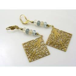 Filigree Earrings with Czech Glass Beads