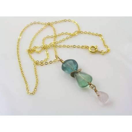 Fluorite and Rose Quartz Necklace