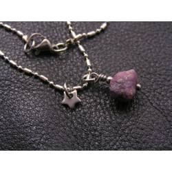 Ruby Nugget Necklace