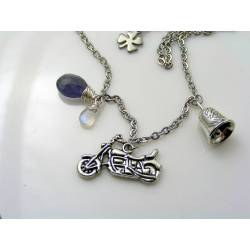 Gremlin or Guardian Bell Necklace, Motorcycle Jewellery