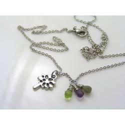 Tree of Life Gemstone Necklace