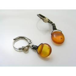Genuine Baltic Amber Earrings
