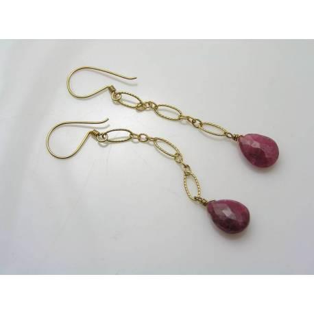 Ruby Vermeil Earrings