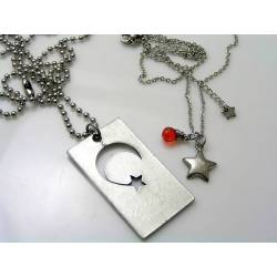 Couple Necklaces, Dog Tag and Star