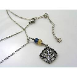 Tree of Life Necklace with Kyanite and Citrine