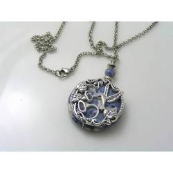 Hummingbird and Sodalite Necklace
