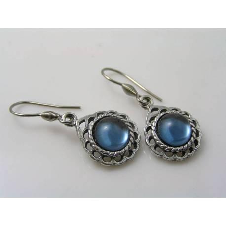 Montana Blue Cabochon Earrings