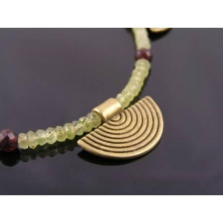 Grossular and Red Garnet Necklace