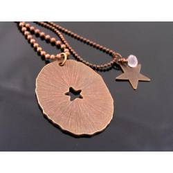 Matching Couple Necklace in Antique Copper, Partner Necklaces