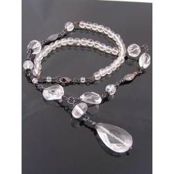 Statement Necklace with large Rock Quartz