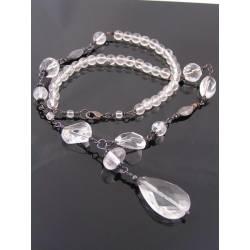 Statement Necklace with large Rock Quartz