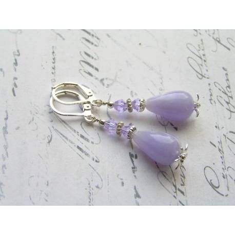 Lilac Acrylic Drop Earrings