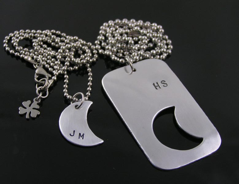personalised couple necklaces
