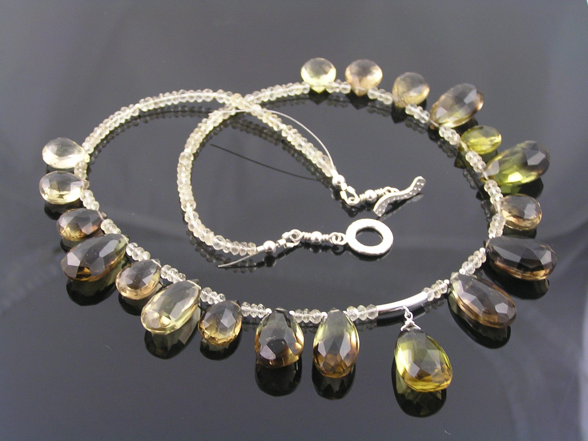 lemon quartz necklace