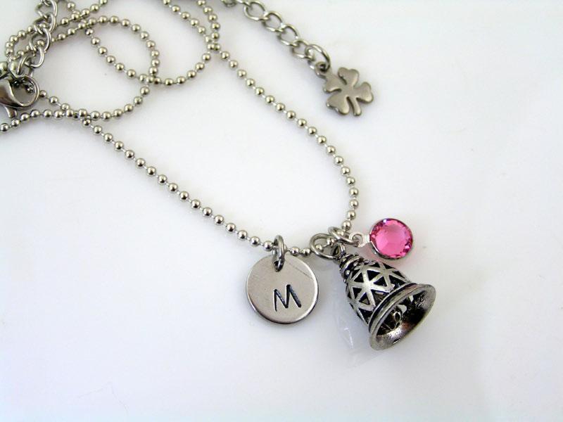 custom order, gremlin bell necklace