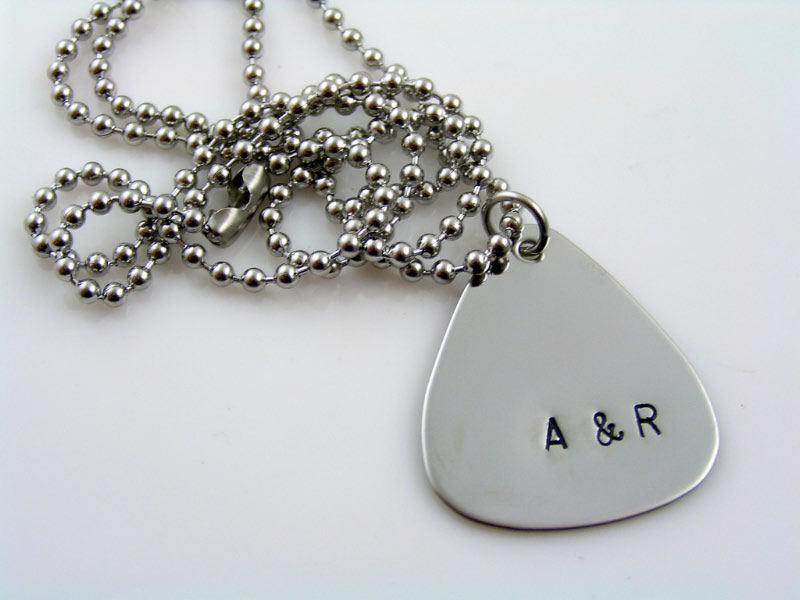 Personalised Guitar Pick Necklace
