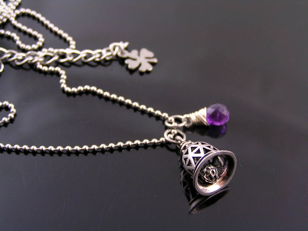 Guardian Bell and Birthstone Necklace