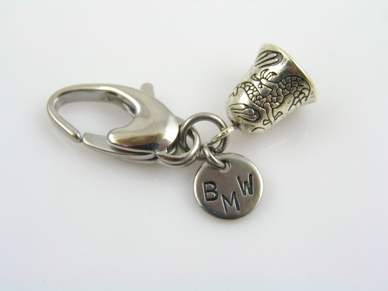 Zipper Charm or Key Ring Charm, BMW and Gremlin Bell