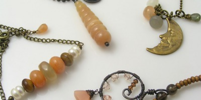 Peach Moonstone Jewelry
